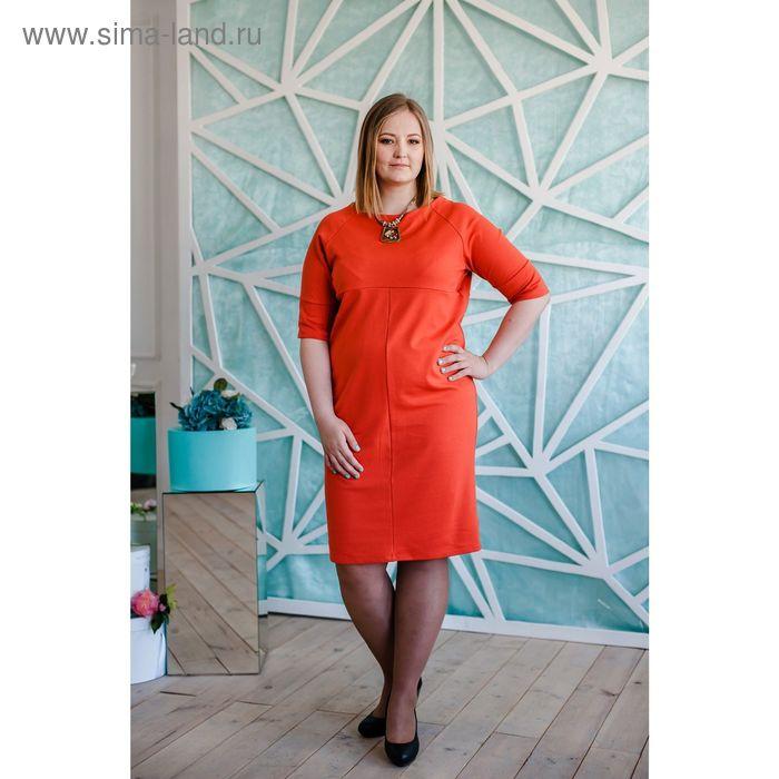 Платье женское Vera Nicco, размер 52 (2XL), рост 168 см, цвет кирпичный (арт. 1673 С+)