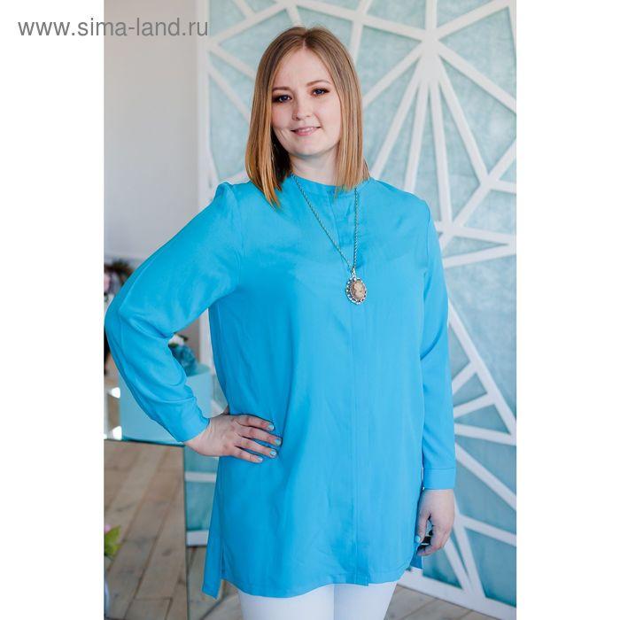 Блузка женская Vera Nicco, размер 52 (2XL), рост 168 см, цвет голубой (арт. 1552 С+)