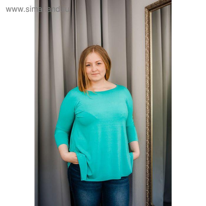Туника женская Vera Nicco, размер 54 (3XL), рост 168 см, цвет ментол (арт. 1605 С+)