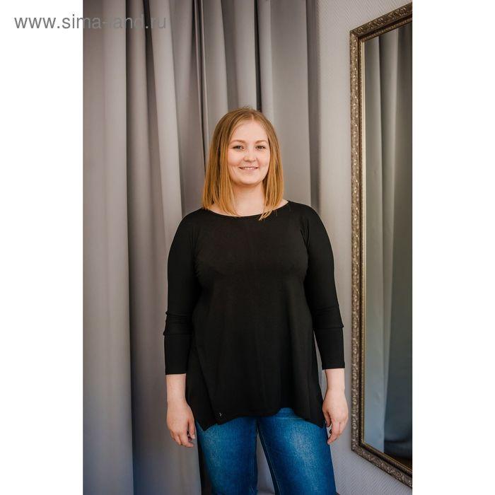 Туника женская Vera Nicco, размер 50 (XL), рост 168 см, цвет чёрный (арт. 1605 С+)