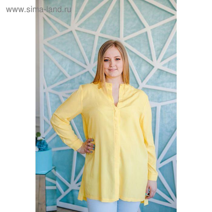 Блузка женская Vera Nicco, размер 54 (3XL), рост 168 см, цвет жёлтый (арт. 1552 С+)