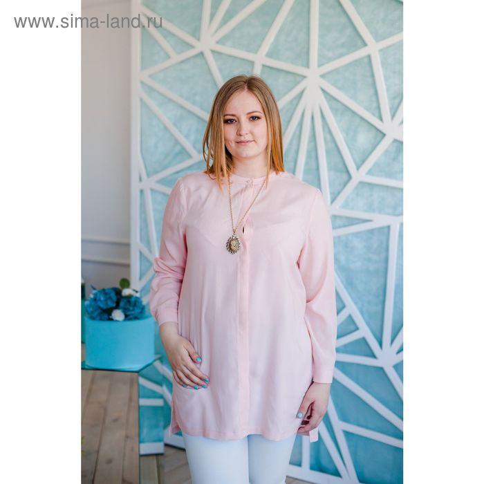 Блузка женская Vera Nicco, размер 54 (3XL), рост 168 см, цвет светло-розовый (арт. 1552 С+)