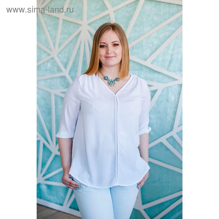 Блуза женская Vera Nicco, размер 50 (XL), рост 168 см, цвет белый (арт. 1596 С+)