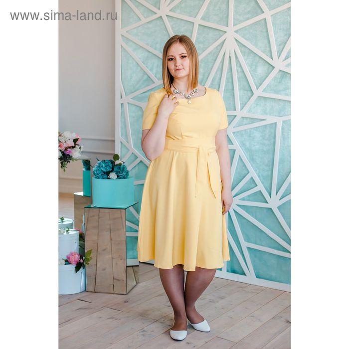 Платье женское Vera Nicco, размер 54 (3XL), рост 168 см, цвет жёлтый (арт. 15731 С+)