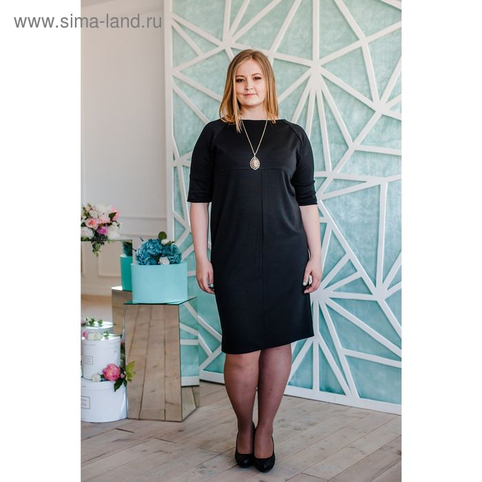 Платье женское Vera Nicco, размер 56 (4XL), рост 168 см, цвет чёрный (арт. 1673 С+)