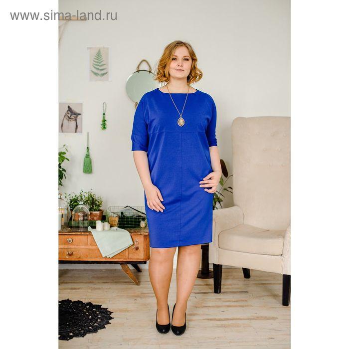 Платье женское Vera Nicco, размер 52 (2XL), рост 168 см, цвет синий (арт. 1673 С+)