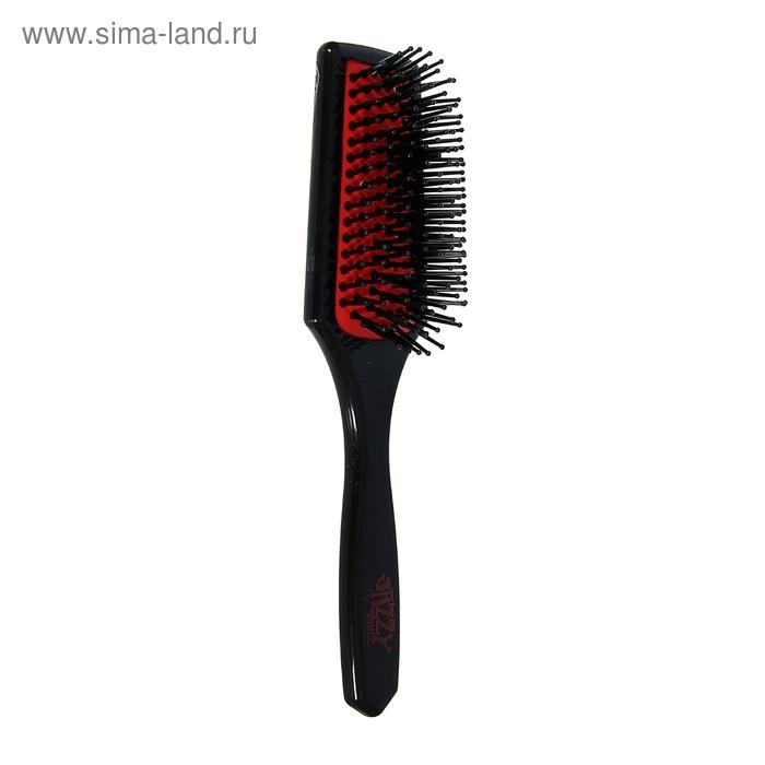 Расчёска массажная широкая, цвет чёрно-красный