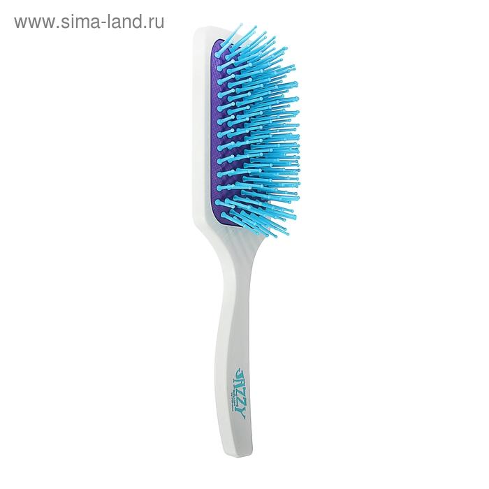 Расчёска массажная широкая, цвет бело-фиолетовый