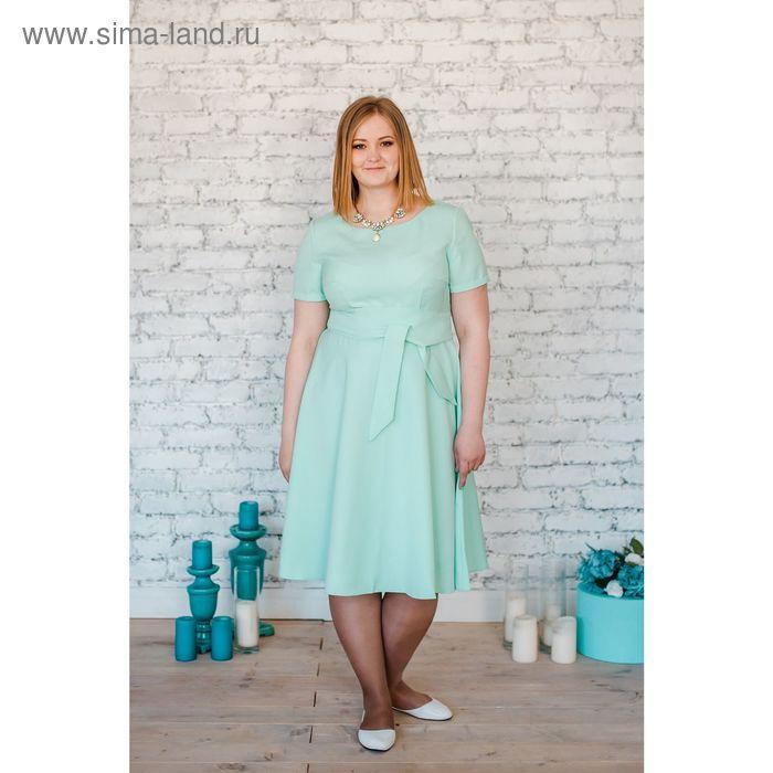 Платье женское Vera Nicco, размер 54 (3XL), рост 168 см, цвет мята (арт. 15731 С+)