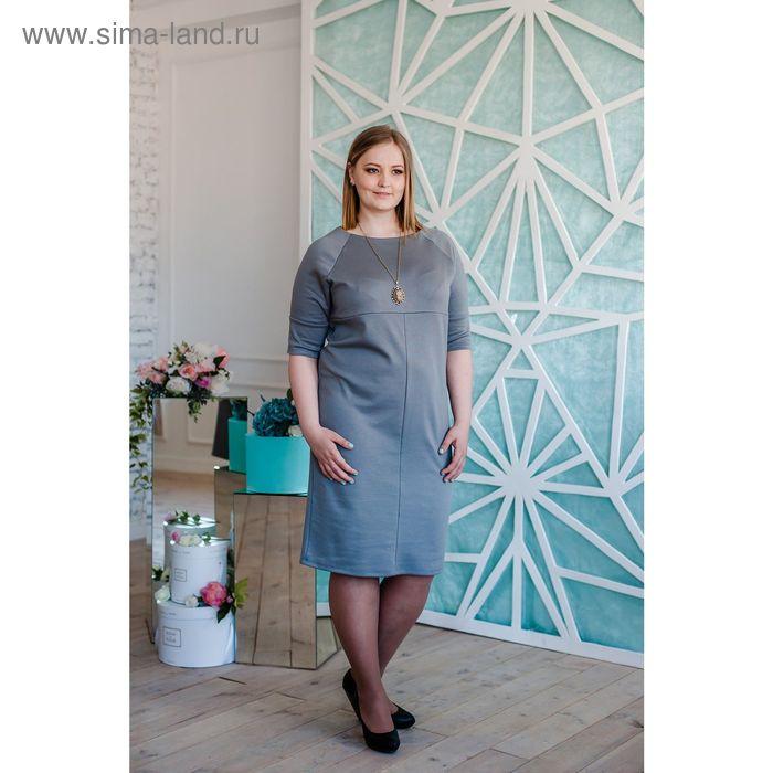 Платье женское Vera Nicco, размер 50 (XL), рост 168 см, цвет светло-серый (арт. 1673 С+)