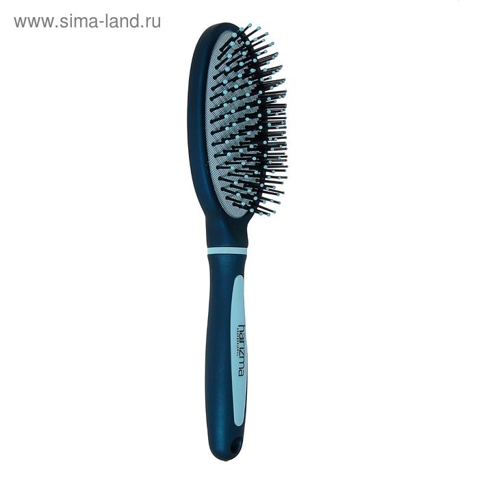 Расчёска массажная овальная, цвет сине-голубой