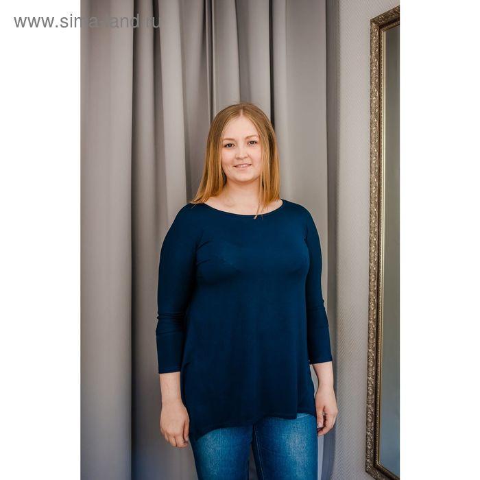 Туника женская Vera Nicco, размер 50 (XL), рост 168 см, цвет тёмно-синий (арт. 1605 С+)