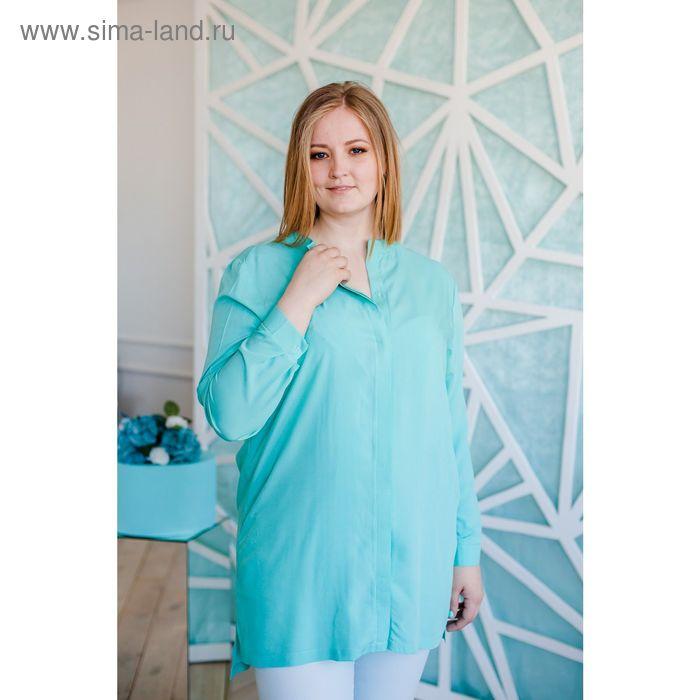 Блузка женская Vera Nicco, размер 50 (XL), рост 168 см, цвет ментол (арт. 1552 С+)