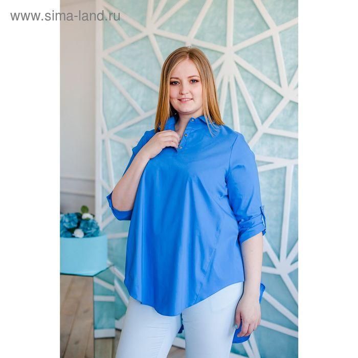 Блузка женская Vera Nicco, размер 52 (2XL), рост 168 см, цвет голубой (арт. 1677 С+)