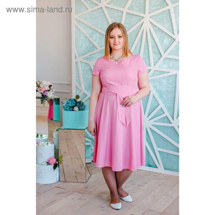 Платье женское Vera Nicco, размер 54 (3XL), рост 168 см, цвет светло-розовый (арт. 15731 С+)