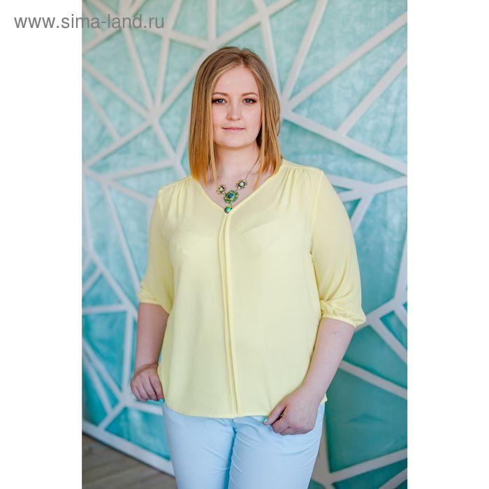 Блуза женская Vera Nicco, размер 54 (3XL), рост 168 см, цвет жёлтый (арт. 1596 С+)