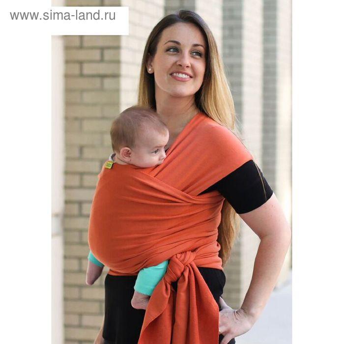 Трикотажный слинг-шарф Boba Wrap расцветка Orange