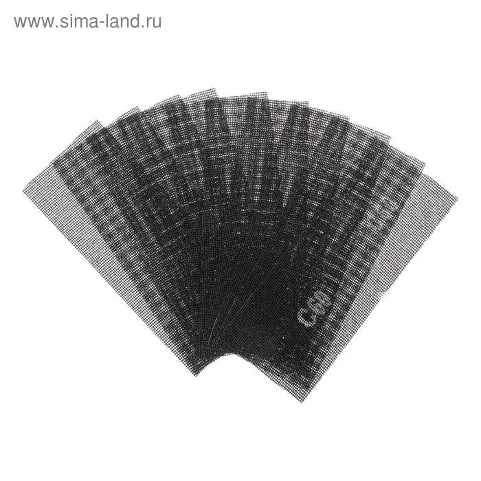 Сетка абразивная TUNDRA basic, корунд, 115 х 280 мм, 10 шт, Р60