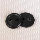 Пуговица, 2 прокола, 11мм, цвет чёрный