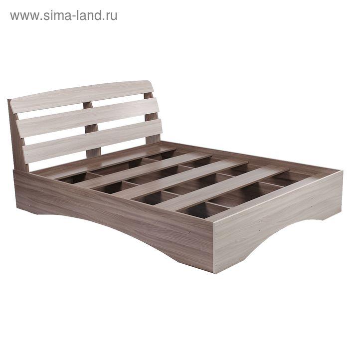 Кровать Кр-9 980*1640*2230 Ясень Шимо Светлый/ корпус Ясень Шимо Темный