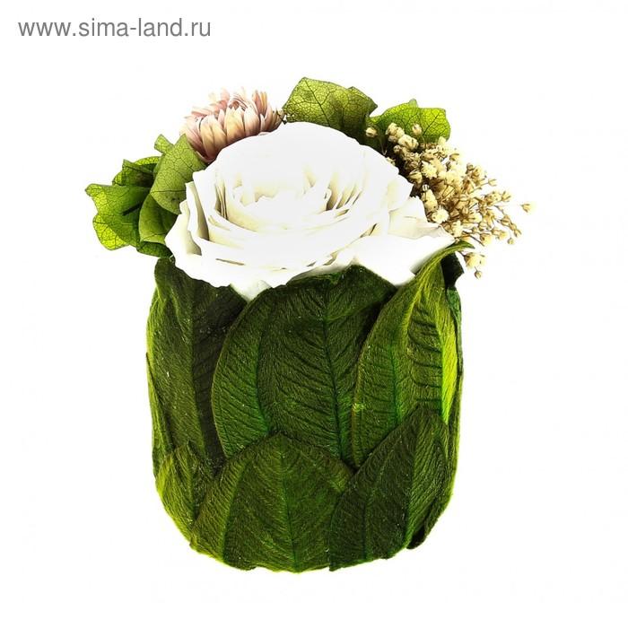 "Декоративная композиция ""Чаша счастья"", 12 х 12 х 11 см, белый"