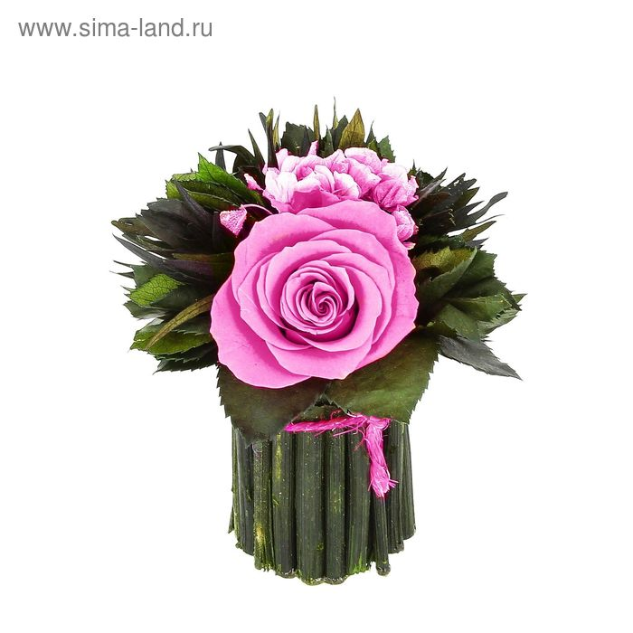"""Декоративная композиция """"Нежное очарование"""", 12,5 х 12,5 х 14 см, розовый"""