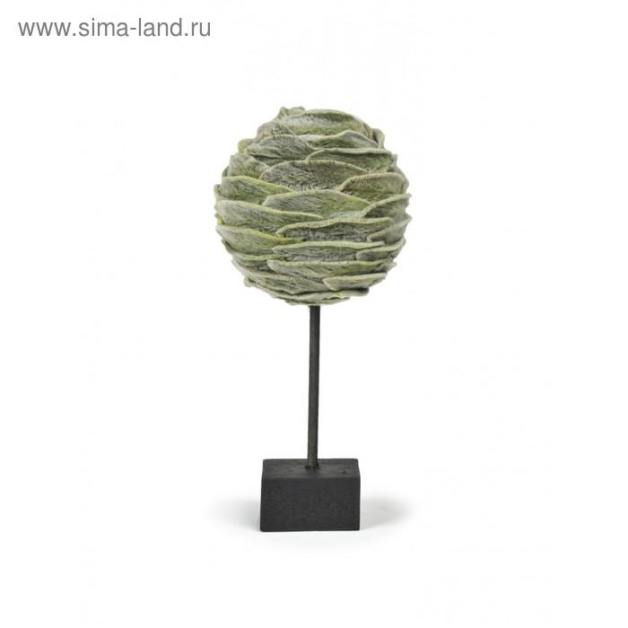 """Декоративная композиция """"Мягкий лист"""" на подставке, 13,5 х 13,5 х 30 см"""
