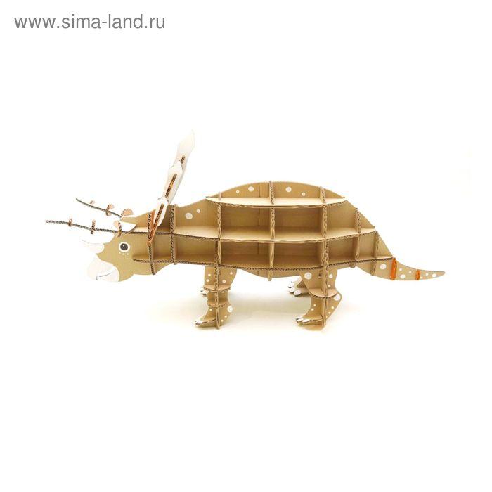 """Игрушка из картона """"Домашний динозавр. Трицератопс"""""""