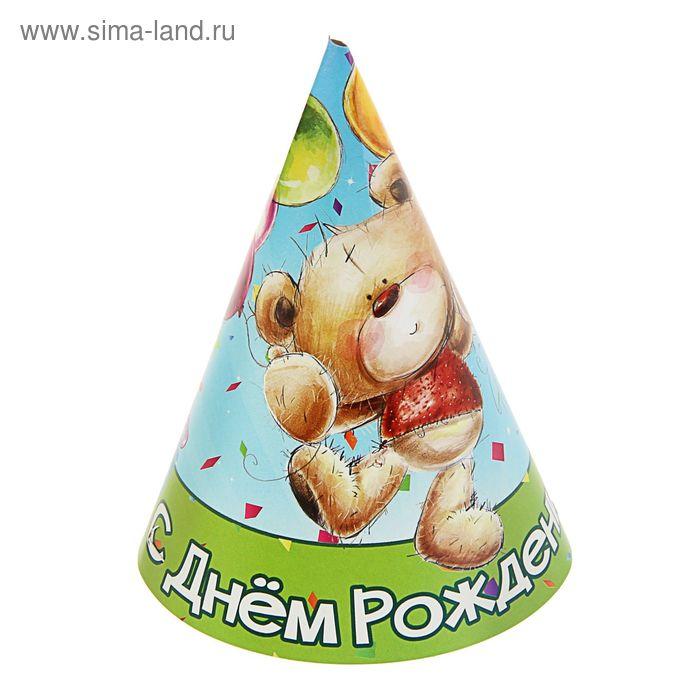 """Колпак  """"Медвежонок и торт"""" 16см. 10 шт, танцующий медведь"""