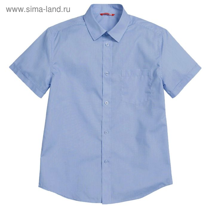 Сорочка для мальчиков, рост 152-158 см возраст 12 лет, цвет голубой (арт. BWTX8013)