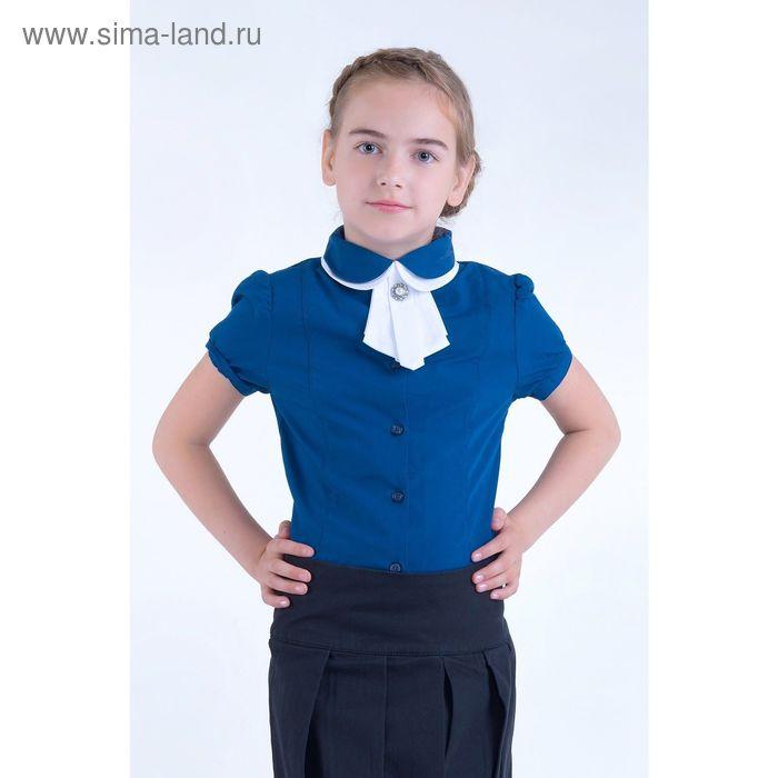 Блузка для девочек, рост 152-158 см возраст 12 лет, цвет синий (арт. GWTX8017)