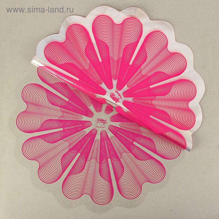 "Салфетка для цветов ""Медуза"" малина, 60 см, 35 мкм"
