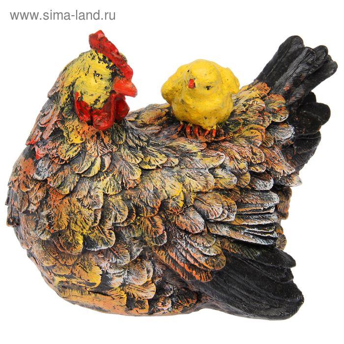 "Садовая фигура ""Курица с цыпленком"""