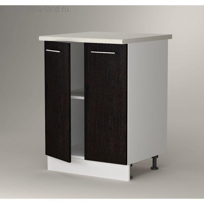 Шкаф напольный 850*600*600 2 двери фасад Венге