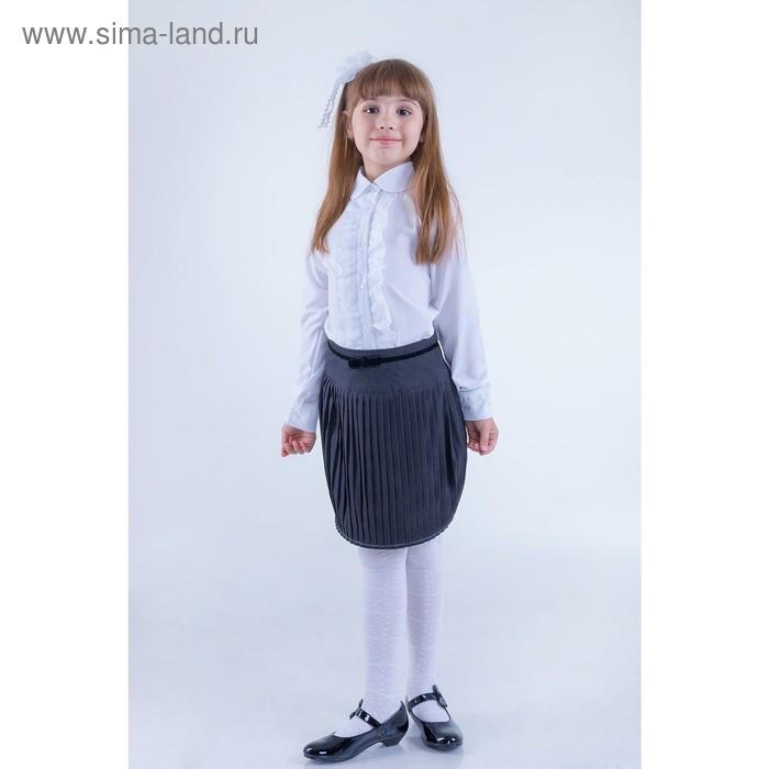 Юбка для девочек, рост 140-146 см, возраст 10 лет, цвет серый (арт. GWS7023)