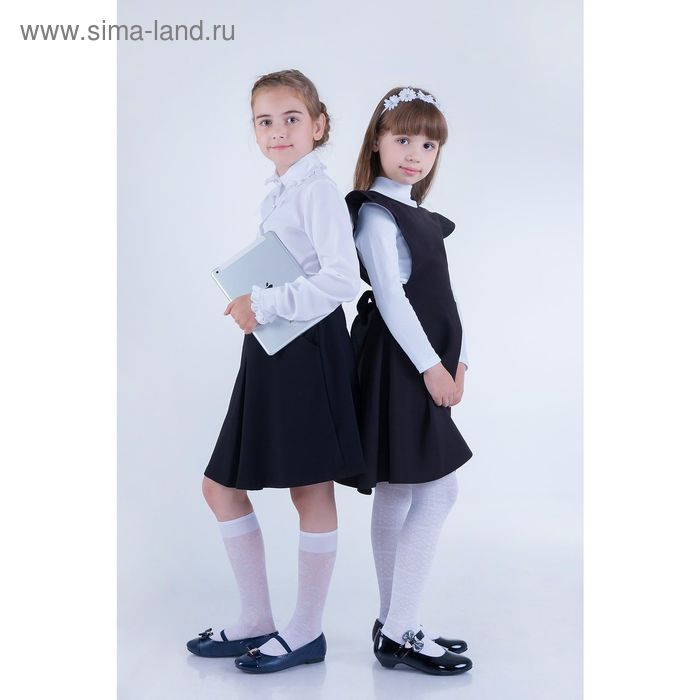 Юбка для девочек, рост 140-146 см, возраст 10 лет, цвет чёрный (арт. GS7030)