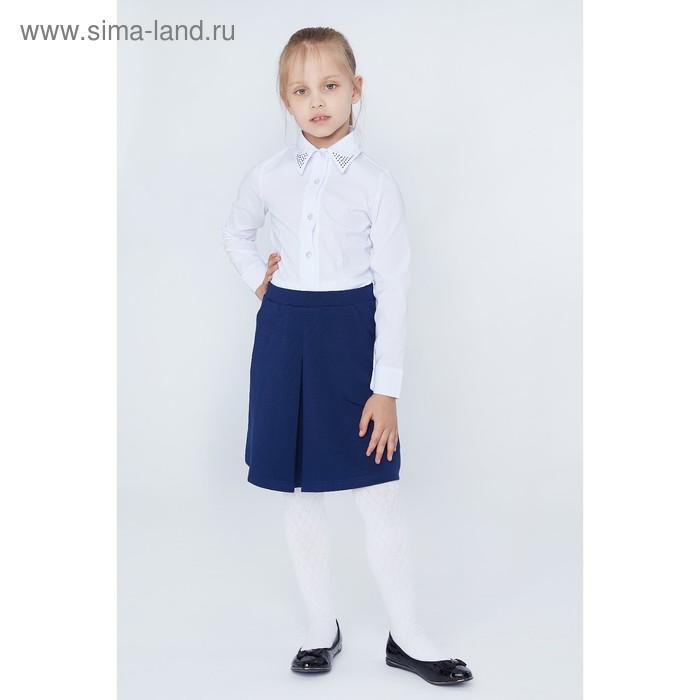 Юбка для девочек, рост 128-134 см, возраст 8 лет, цвет синий (арт. GS7030)