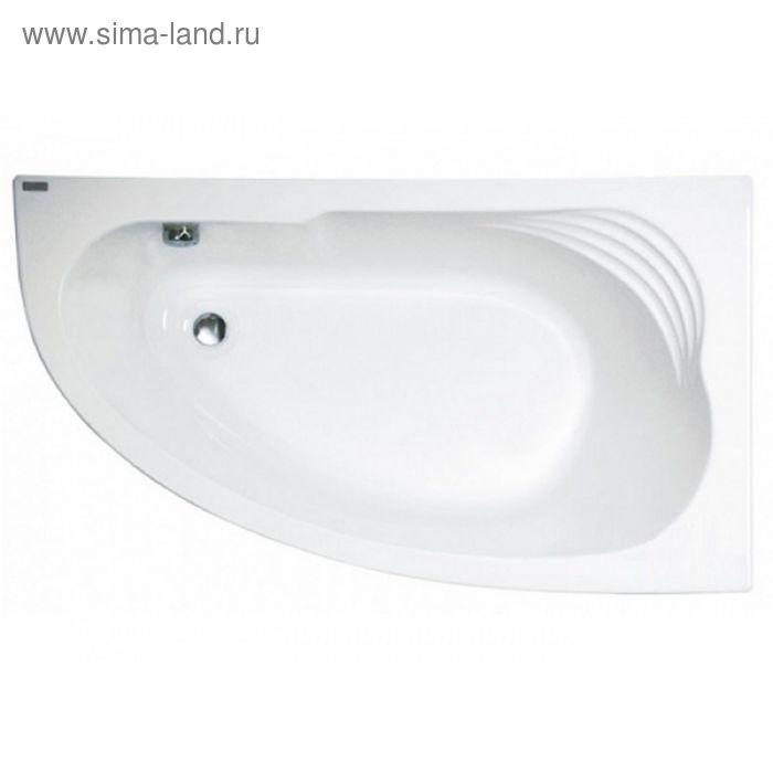 Акриловая ванна Jika Delicia 140х80 белая, правая с монтажным комплектом и сифоном