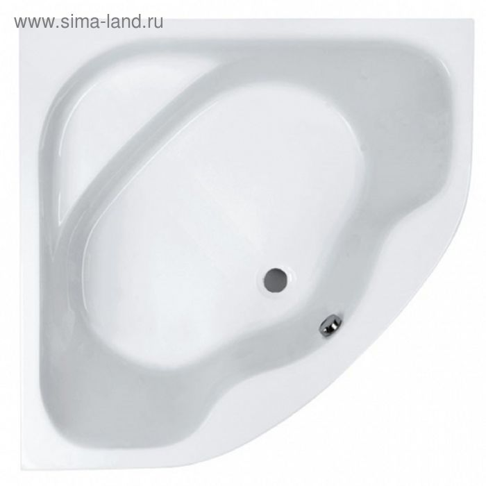Акриловая ванна Jika Lucerne 140х140 с монтажным комплектом и сифоном