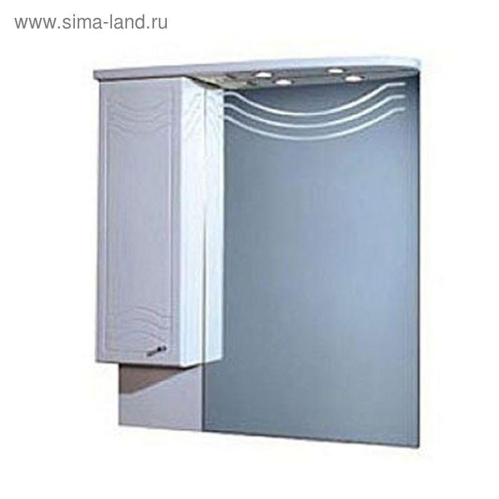 Зеркало со шкафом Акватон Домус10-2 левое 1084*880*178 белое