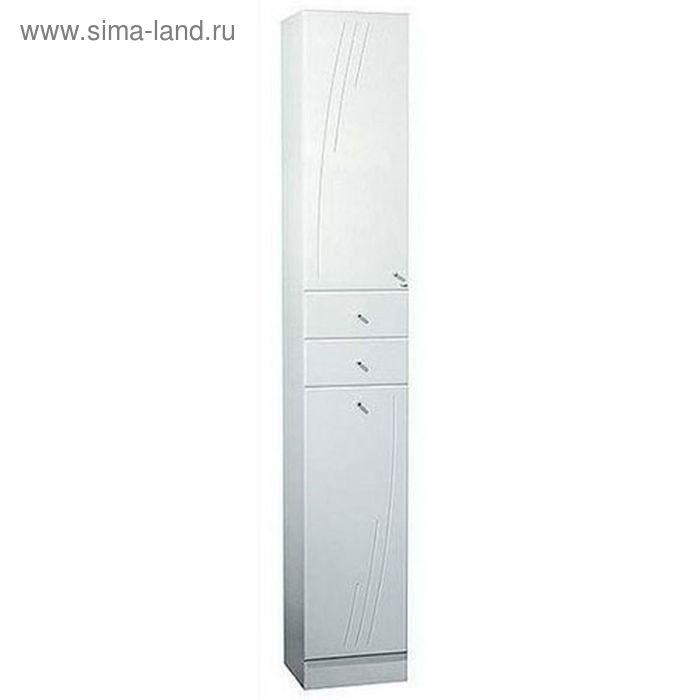 Шкаф-колонна Акватон Минима-М правый с бельевой корзиной белый