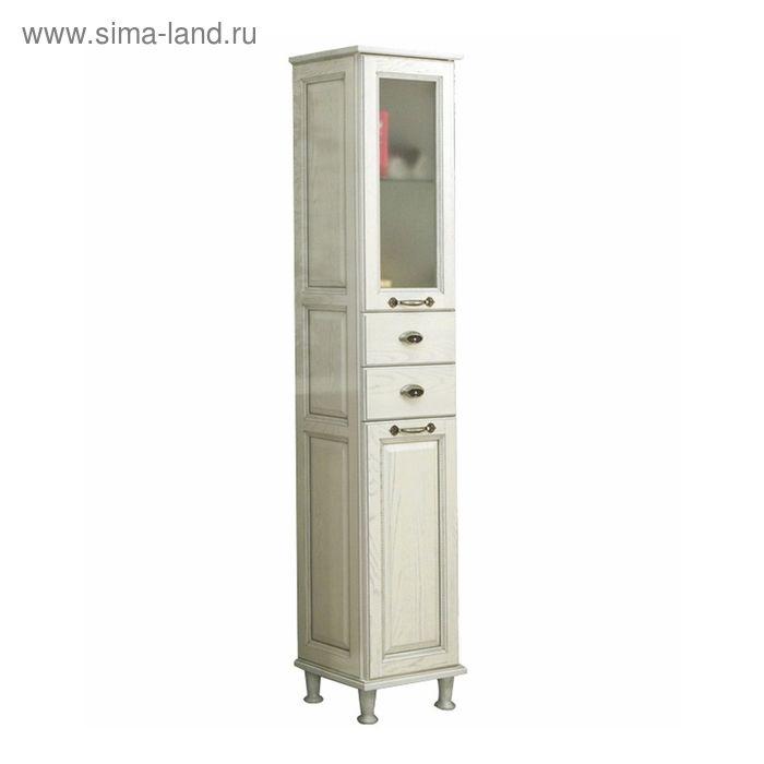 Шкаф-колонна Акватон Жерона левый белое серебро