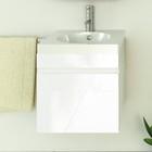 """Тумба-комплект Comforty """"Диана-50"""", подвесная, 50х49.5х46 см, с раковиной, цвет белый"""