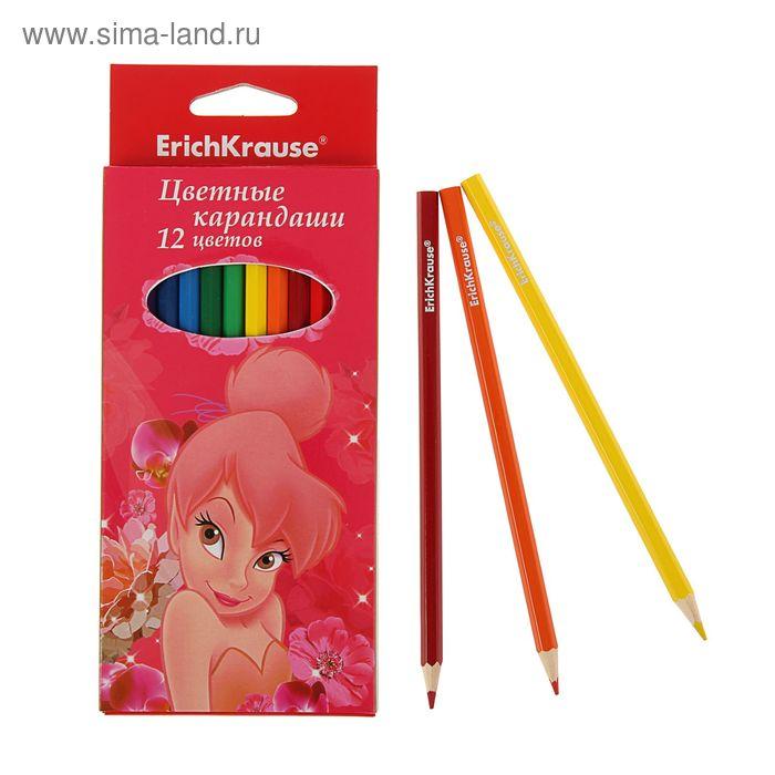 Карандаши 12 цветов Tink Pink, EK 39684