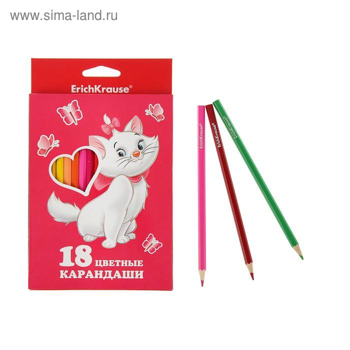 Карандаши 18 цветов Cat Marie, EK 39703