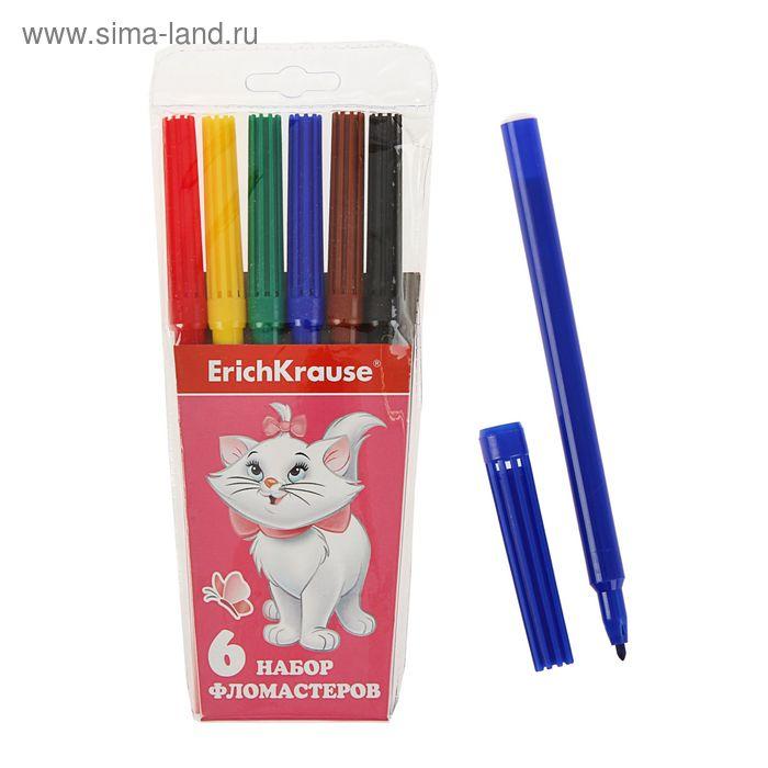 Фломастеры 6 цветов Cat Marie, EK 39704