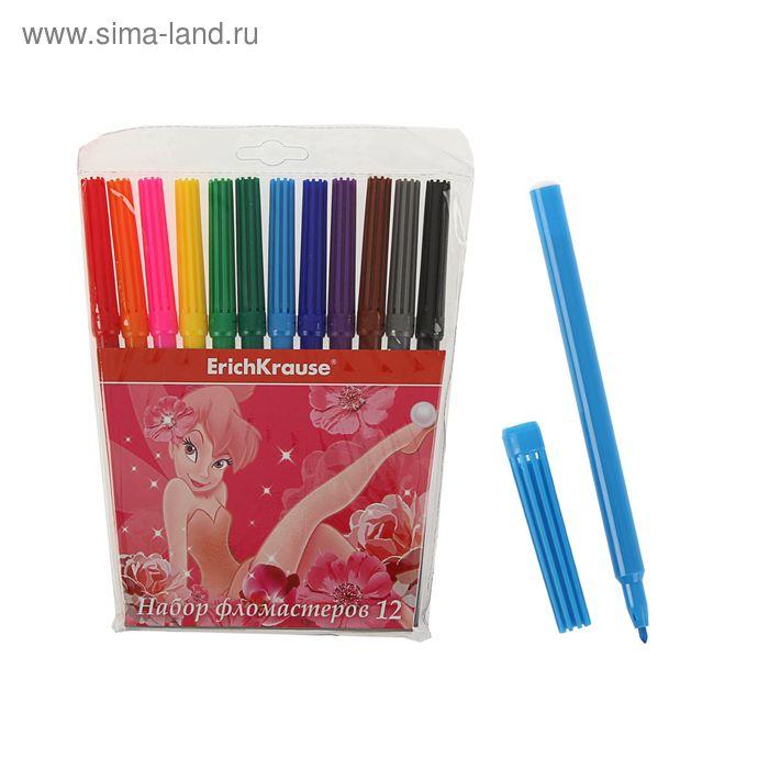Фломастеры 12 цветов Tink Pink, EK 39681