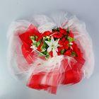 Букет на заднее стекло «Бант», на присосках, 110 × 150 см, фатин, красно-белый