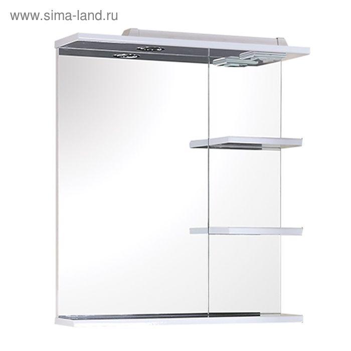 Зеркало с полками Кипр 58 см. с подсветкой