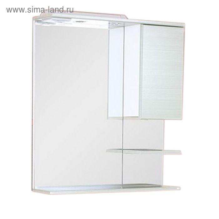 Шкаф-Зеркало Дели Олива 58 см. с подсветкой правое